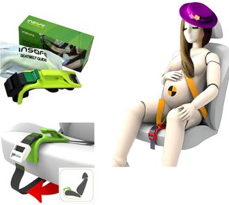Адаптер ремня безопасности для беременных INSAFE Lime Green Зеленый