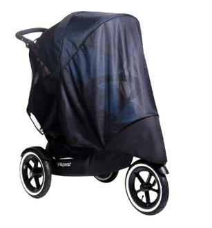 УФ защита (москитная сетка) для колясок Phil and Teds Navigator/Sport Double (для 1 или 2 детей) Mesh Sport Double Черная сетка