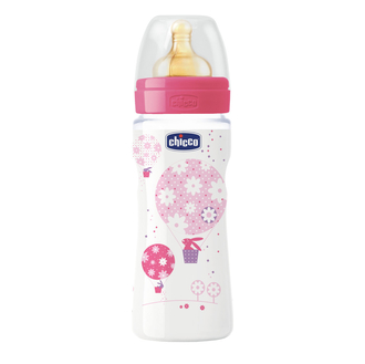 Бутылочка Chicco Well-being Girl 4 мес.+, лат. соска, РР, 330 мл 310205010