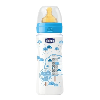 Бутылочка Chicco Well-being Boy 4 мес.+, лат.соска, РР, 330 мл 310205115