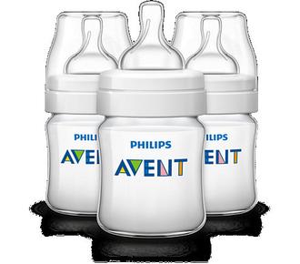 Бутылочка для кормления Avent 125 мл, 3 шт., Pp 80023