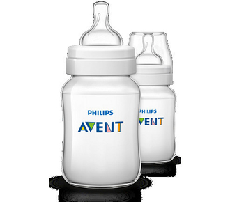 Бутылочка для кормления Avent 260 мл, 2 шт., Pp 80025