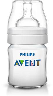 Бутылочка для кормления Avent Classic+ 125 мл с соской с потоком для новорожденного, 1 шт. 80021