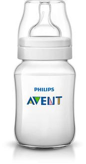 Бутылочка для кормления Avent Classic+ 260 мл с соской с медленным потоком для детей от 1 мес, 1 шт.