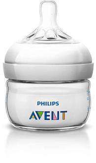 Бутылочка для кормления Avent Natural 60 мл, 1 шт., 0+ 86021