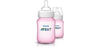 Бутылочка для кормления Avent розовая, 2 шт х 260 мл (полипропилен), арт. 80028