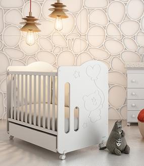 Кровать 120x60 Micuna Globito(White)