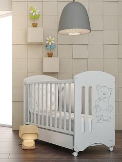 Кровать 120x60 Micuna Sweet Bear Basic Матрас полиуретановый СН-620 в подарок!(White)