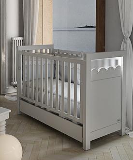 Кровать 120x60 Micuna Amelia Aran Luxe со светодиодной подсветкой(White)