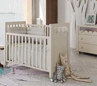 Кровать 120x60 Micuna Amelia Aran со светодиодной подсветкой(Sand)