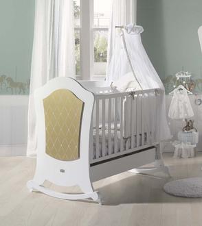Кровать 120x60 Micuna Alexa Relax(White/Gold)