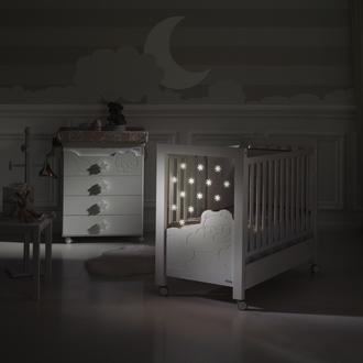 Кровать 120x60 Micuna Dolce Luce Relax со светодиодной подсветкой(Berliner Grey/White)