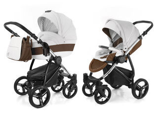 Детская коляска 2 в 1 Esspero Grand Newborn Lux (шасси Chrome) - Canella leatherette