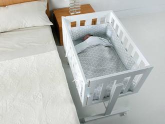 Комплект постельного белья для колыбели Micuna Cododo TX-1640(Dots Grey)