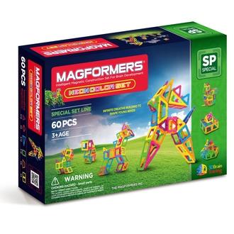Магнитный конструктор Neon color set 60