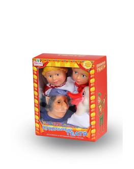 Кукольный театр 4 персонажа с ширмой №4