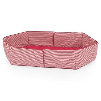 Бампер для 6-ти секционного манежа (H1047), Розовая/полоска