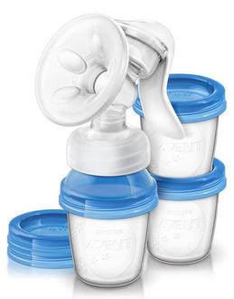 Ручной молокоотсос Philips Avent с контейнерами арт. 86540