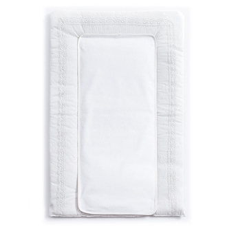 Покрывало (матрасик) Funnababy Premium Baby White для пеленания 50х80 см(Белый)
