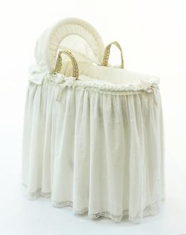 Корзина плетёная с капюшоном Funnababy Premium Baby Cream(Крем)