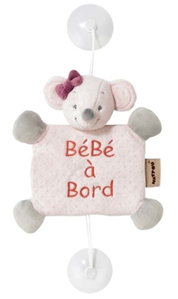 Знак автомобильный Nattou Baby on board Adele Valentine Мышка 424363