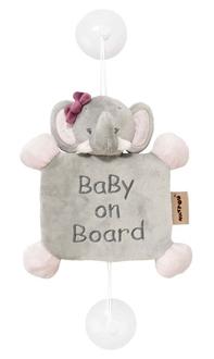 Знак автомобильный Nattou Baby on board Adele Valentine Слоник 424356