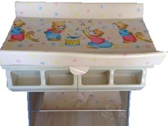 Пеленальный столик с ванночкой Forkiddy Born Ivory