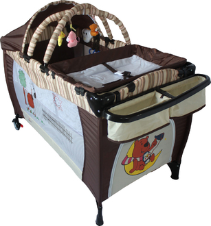 Кроватка - манеж Forkiddy Arena Lux New (шоколадная лошадка)
