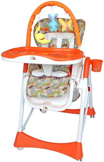 Стульчик для кормления ForKiddy Optimum Toys V2 Orange 0+