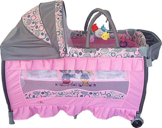 Манеж-кровать Forkiddy Arena Lux New (Pink)