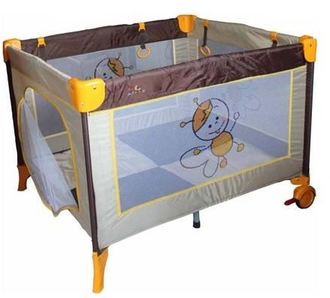 Манеж Forkiddy Quadro Plus Brown