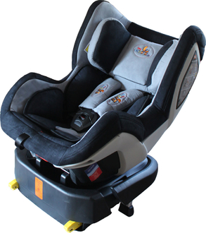 Автокресло ForKiddy Drive FIX De Luxe Grey
