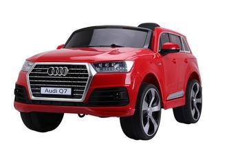 Машинка на аккум.AUDI, р/у (2,4 GHz, 2*6V7AH, 2*25W мотора),колеса EVA,свет/звук,откр.двери,4 амортизатора, ремень, разм. 121*71*59 см. цвет: красный