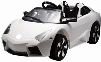 Машинка на аккумуляторе р/у (2,4 GHz, 12V7AH, 2*35W мотора),колеса EVA,свет/звук,радио,USB, откр.двери, амортиз. разм.131*62*50 см. цвет: белый