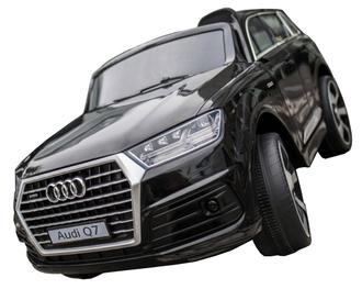 Машинка на аккум.AUDI, р/у (2,4 GHz, 2*6V7AH, 2*25W мотора), колеса EVA,свет/звук,откр.двери,4 амортизатора, ремень, разм. 121*71*59 см. цвет: черный