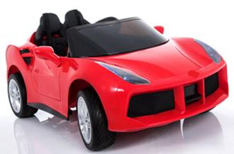 Машинка на аккумуляторе р/у (2,4 GHz, 12V7AH, 2*35W мотора),колеса EVA,свет/звук,радио, TF/MP3/USB,откр.двери,2 скорости,разм.128*75*47см.цвет:красный