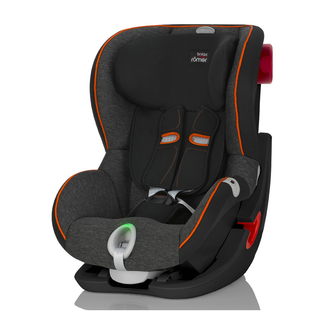 Детское автокресло King II LS Black Series Black Marble Highline