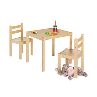 Комплект игровой мебели Kalle&Co (стол и 2 стула), натуральный