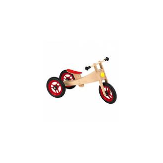 Беговел 2in1 Bike, натуральный/красный