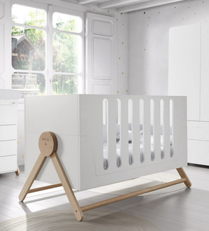 Кроватка 140x70 Micuna Swing Big(White/Scandinavian)