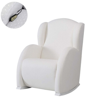 Кресло-качалка с Relax-системой Micuna Wing/Flor White Кожаная обивка(Цвет обивки: Leatherette White)