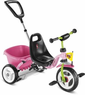 Трехколесный велосипед Puky CAT 1S 2225 pink/kiwi розовый/киви