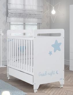 Кровать 120x60 Micuna Istar(White/Skyblue)