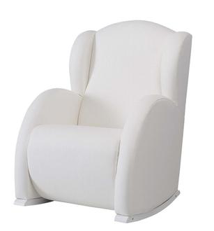 Кресло-качалка Micuna Flor White(Цвет обивки: Leatherette White)