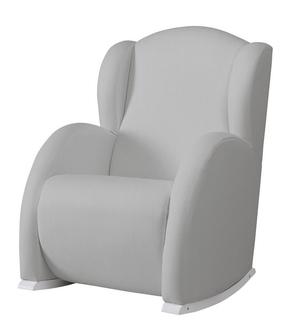 Кресло-качалка Micuna Flor White(Цвет обивки: Leatherette Grey)