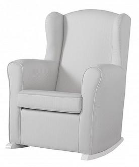 Кресло-качалка Micuna Nanny White(Цвет обивки: Stripes Grey)