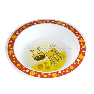 Миска пластиковая Canpol арт. 4/412, 12+ мес., цвет красный