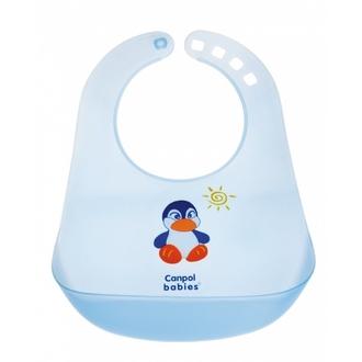Нагрудник пластиковый Canpol арт. 2/404 цвет голубой