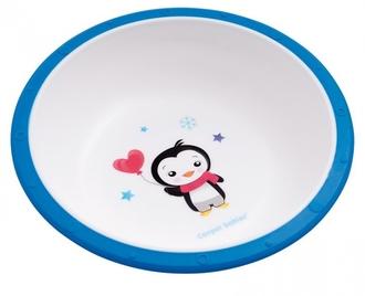 Миска пластиковая Canpol арт. 4/416, 4+ мес., цвет синий, рисунок пингвиненок