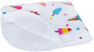 Клеенка непромокаемая на кровать Canpol арт. 9/431, рисунок мороженое